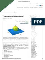 Clasificación de Las Matemáticas _ INCYTDE
