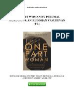 One Part Woman by Perumal Murugan Aniruddhan Vasudevan Tr