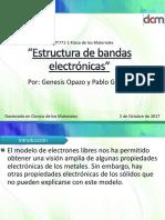 Estructura de Bandas Electrónicas