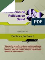 Formulacion Politicas de Salud HPI