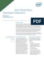 Designing Next Generation Telematics Solutions