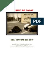 Horarios de Salats (oraciones) OCTUBRE 2017 Ecuador
