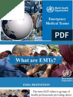 Emergency Medical Teams - WHO