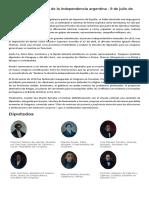 Acta de La Declaración de La Independencia Argentin1