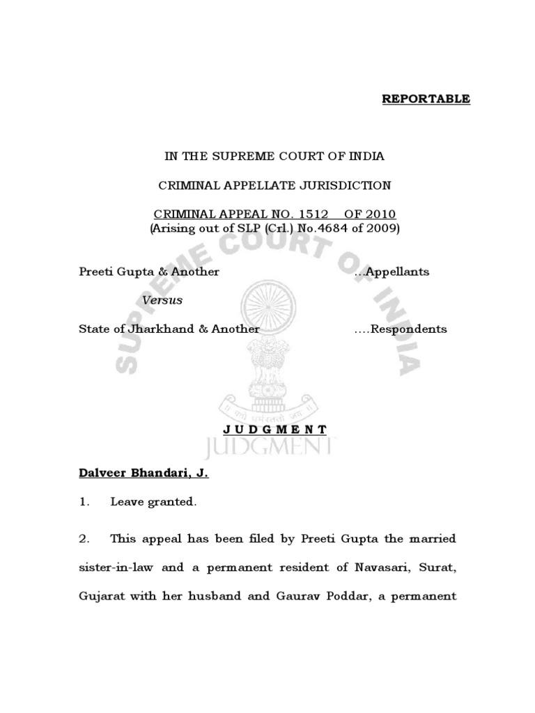 Supreme Court Judgement on 498A misuse-Dalveer Bhandari