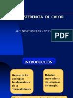 Formulas y Aplicaciones (Transferencia de Calor)