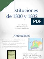 Constitución de 1830 y 1832(1)