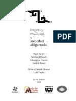 Alvaro Garcia Linera and Luis Tapia - Imperio-Multitud-y-sociedad abigrarrada.pdf