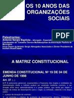 Os 10 Anos Das Organizacoes Sociais