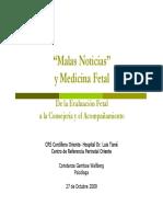Malas Noticias en Medicina Fetal