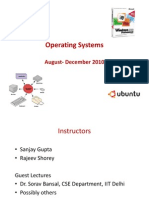 Operating Systems Class#1#2 August 2010