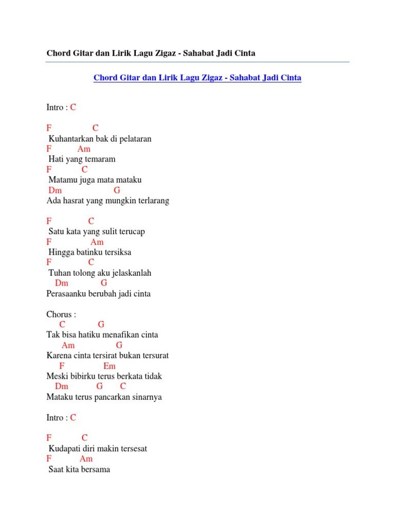 Chord Lagu Zigaz