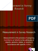 Measurement in Survey Research