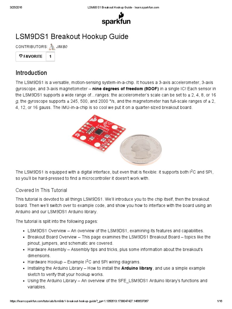 Breakout Hookup Guide - learn.sparkfun.pdf   Arduino   Electrical Connector