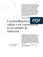 MARIN, David - La Esencialización de La Cultura y Sus Consecuencias en Los Estudios de Traducción