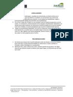 Conclusiones y Recomendaciones PRESAS PRESAS