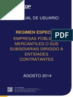 Regimen Especial Empresas Publicas Mercantiles y Sus Subsidiarias - Entidades Contratantes