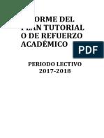 Infome de Refuerzo Académico Formato 2017