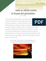 Venezuela se rebela contra la tiranía del petrodólar, por Manlio Dinucci