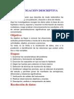La Investigación Descriptiva Alvaro