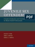 RYAN, HUNTER & MURRIE = Juvenile Sex Offenders = OUP. 1e, 2012 [T]