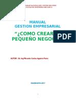 COMO CREAR UN PEQUEÑO NEGOCIO - gestion empresarial.doc