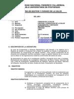 Sillabus Fundamentos y Enfoques Metodologicos