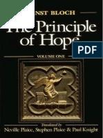 Ernst Bloch the Principle of Hope Vol1