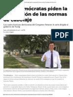 Siete Demócratas Piden La Suspensión de Las Normas de Cabotaje _ El Nuevo Día