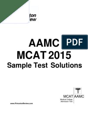 AAMC Sample Test Solutions pdf | Ion | Ph