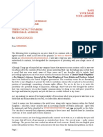 Generic Letter Placing Another Party (Bank, Legal Firm, Individual, Etc.) on Notice for Human Rights Abuse