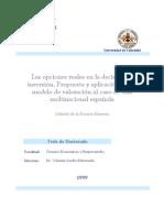 Las Opciones Reales en La Decision de Inversion Propuesta y Aplicacion de Un Modelo de Valoracion Al Caso de Una Multinacional Espanola 0