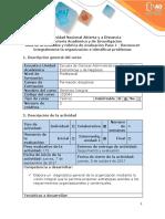 Guía de actividades y rúbrica de evaluación Paso 1 - Reconocer integralmente la organización e identificar problemas.docx