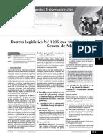 Decreto Legislativo N.º 1235 Que Modifica La Ley General de Aduanas -Parte 1