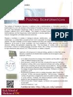 Posting Bioinformatician