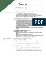 aaron vo present resume no address pdf