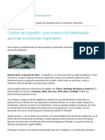 Senasa - Cultivo de Algodon Una Produccion Destacada Para Las Economias Regionales - 2017-06-15