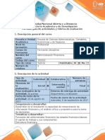 Guía de Actividades y Rúbrica de Evaluación Del Reconocimiento General Del Curso
