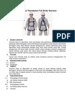 Prosedur Pemakaian Full Body Harness
