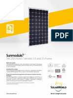 Sunmodule Solar Panel 250 Mono Ds