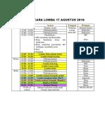Draft Acara Lomba 17 Agustus 2016