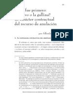 El carácter contractual del Recurso de Anulación - Alfredo Bullard G.