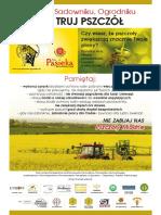 Plakat-A3 Rolniku Nie Truj Pszczol DRUK