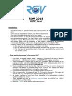 ROV Aast Manual 2018