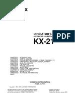 Sysmex KX-21 Hematology Analyzer - Instruction manual.pdf