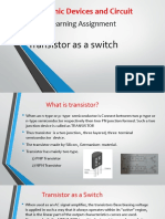 Class 1 Transistor as a Switch