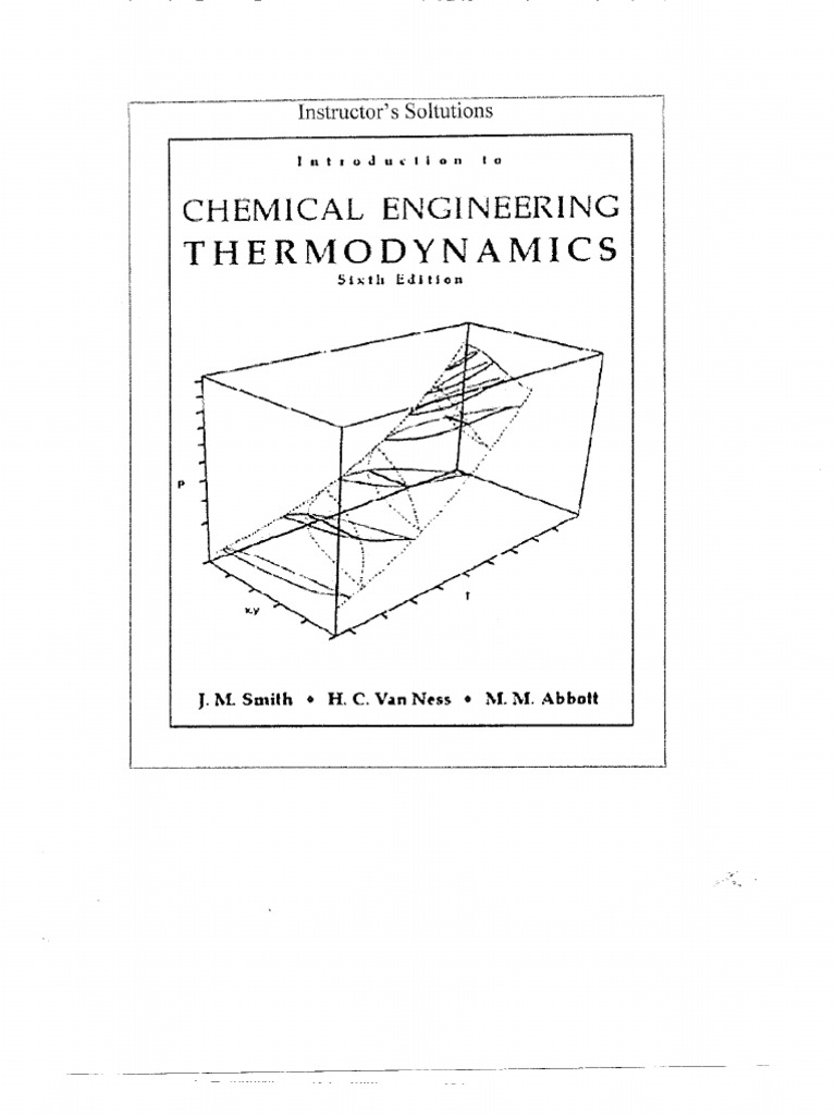 Solution Manual-chemical Engineering Thermodynamics