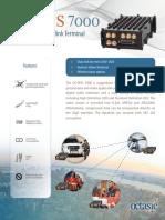 Octasic OCTBTS 7000 Miniaturized Datalink Terminal