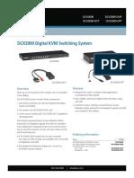 Dcx3000 Ds Rev1 Dcx3000 Digital Kvm Switching System