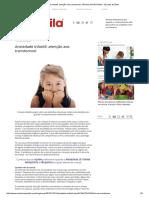 Ansiedade Infantil_ Atenção Aos Transtornos! _ Revista NA MOCHILA - Escolas Do Bem